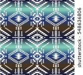 retro colors tribal vector... | Shutterstock .eps vector #548636806