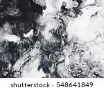 Abstract hand painted black and ...