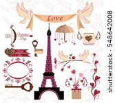 vintage set of decorative... | Shutterstock .eps vector #548642008