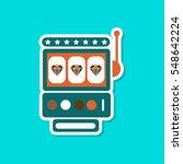 paper sticker on stylish...   Shutterstock .eps vector #548642224