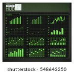 hud background. infographic... | Shutterstock .eps vector #548643250