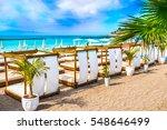 beach in costa adeje  tenerife  ... | Shutterstock . vector #548646499