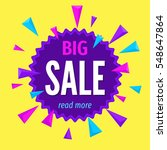 big sale banner template.... | Shutterstock .eps vector #548647864