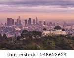 griffith observatory and los... | Shutterstock . vector #548653624