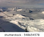 Gondola Lift In The French Alp...
