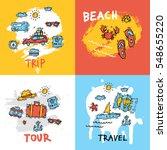 world travel. hand drawn.... | Shutterstock .eps vector #548655220