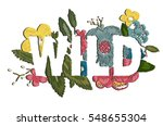 embroidery patch flowers wild... | Shutterstock .eps vector #548655304
