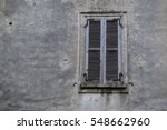 old brown window with closed...   Shutterstock . vector #548662960