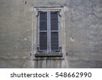 old brown window with closed...   Shutterstock . vector #548662990