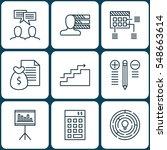set of 9 project management... | Shutterstock .eps vector #548663614