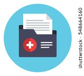 patient file icon. medical... | Shutterstock .eps vector #548664160