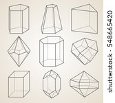 set of geometric crystals.... | Shutterstock .eps vector #548665420