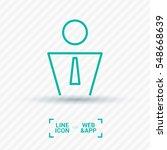 businessman isolated single... | Shutterstock .eps vector #548668639