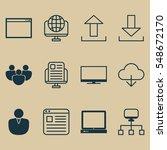 set of 12 internet icons....