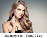 amazing woman portrait.... | Shutterstock . vector #548673613