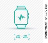 smart watch isolated minimal...   Shutterstock .eps vector #548677150