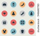 set of 16 simple wardrobe icons....