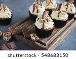 homemade chocolate  cupcake... | Shutterstock . vector #548683150
