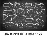 doodle sketch arrows hand drawn ... | Shutterstock .eps vector #548684428