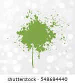 big grunge splash of greenery... | Shutterstock .eps vector #548684440