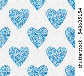 Seamless Blue Heart Pattern....