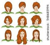 vector set of color sketch... | Shutterstock .eps vector #548685994