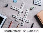 software hardware update and... | Shutterstock . vector #548686414