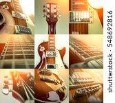 Rock Guitar. Collage Of Close...