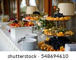 delicious fruits served on... | Shutterstock . vector #548694610
