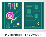 abstract vector line design for ... | Shutterstock .eps vector #548694979