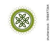 life flower symbol vector logo... | Shutterstock .eps vector #548697364