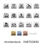 interface icons   the vector... | Shutterstock .eps vector #548702830