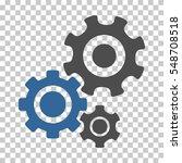 cobalt and gray gear mechanism... | Shutterstock .eps vector #548708518
