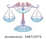 colorful justice scales or... | Shutterstock .eps vector #548715973