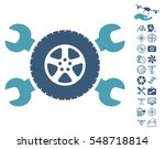 tire service wrenches icon with ... | Shutterstock .eps vector #548718814