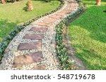 Stone Walkway In The Outdoor...