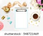 mockup planner flat lay.... | Shutterstock . vector #548721469