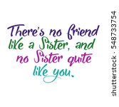 sister phrase in color with... | Shutterstock . vector #548733754