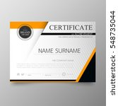 certificate template awards... | Shutterstock .eps vector #548735044