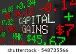 capital gains stock market... | Shutterstock . vector #548735566