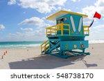 lifeguard post on south beach ... | Shutterstock . vector #548738170