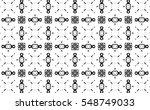 black and white ornament. k | Shutterstock . vector #548749033