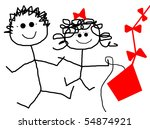 children kite | Shutterstock . vector #54874921