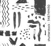hand drawn seamless ink pattern ... | Shutterstock .eps vector #548749450
