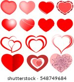Set Of Vector Heart Isolated O...