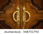 door handles with an old double ... | Shutterstock . vector #548751793