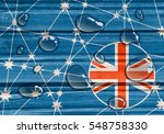 australia flag design concept.... | Shutterstock . vector #548758330