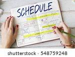 schedule activity calendar... | Shutterstock . vector #548759248