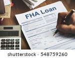 fha loan federal housing... | Shutterstock . vector #548759260