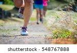 women's evening trail run | Shutterstock . vector #548767888